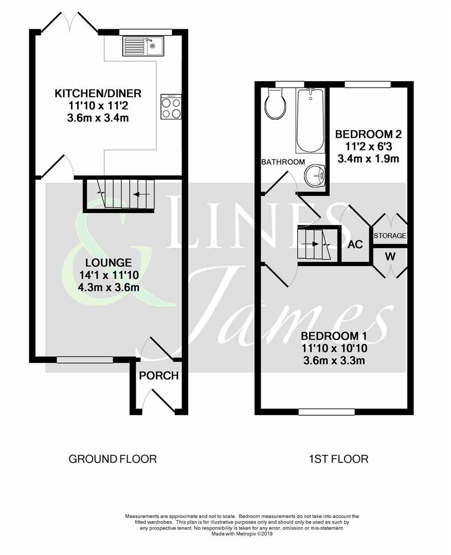 Floorplan for Groombridge Way, Horsham